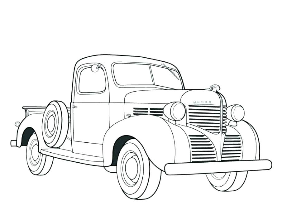 905x719 Old School Cars Coloring Pages