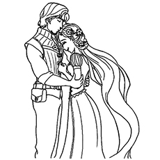 Old Couple Coloring Pages