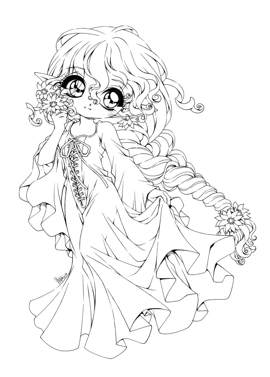 900x1254 Chibi Coloring Pages To Download And Print For Free