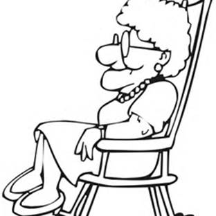 312x312 Old Lady Coloring Pages Generation's Digi Stamps
