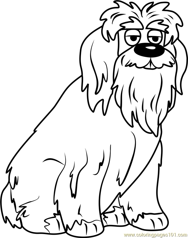 Old English Sheepdog Coloring Pages at GetDrawings com | Free for