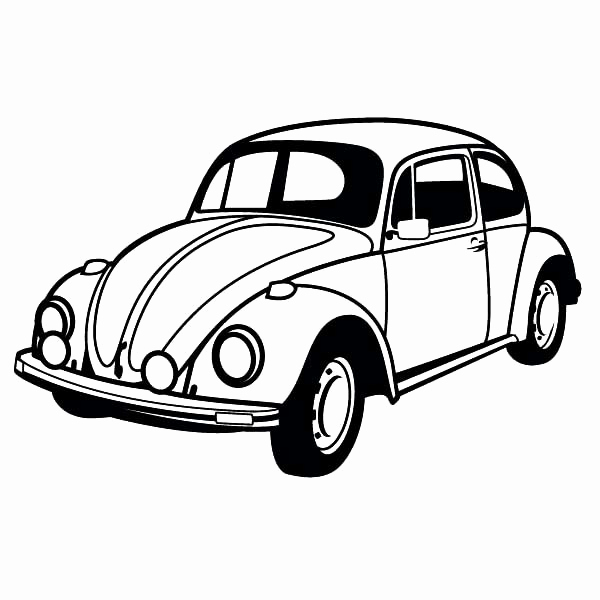 600x600 Coloring Pages Of Classic Cars Images Classic Car Coloring Pages