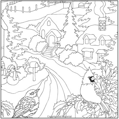 Old Fashioned Christmas Coloring Pages