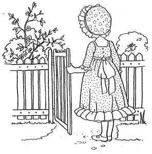 296x300 Top Vintage Coloring Pages