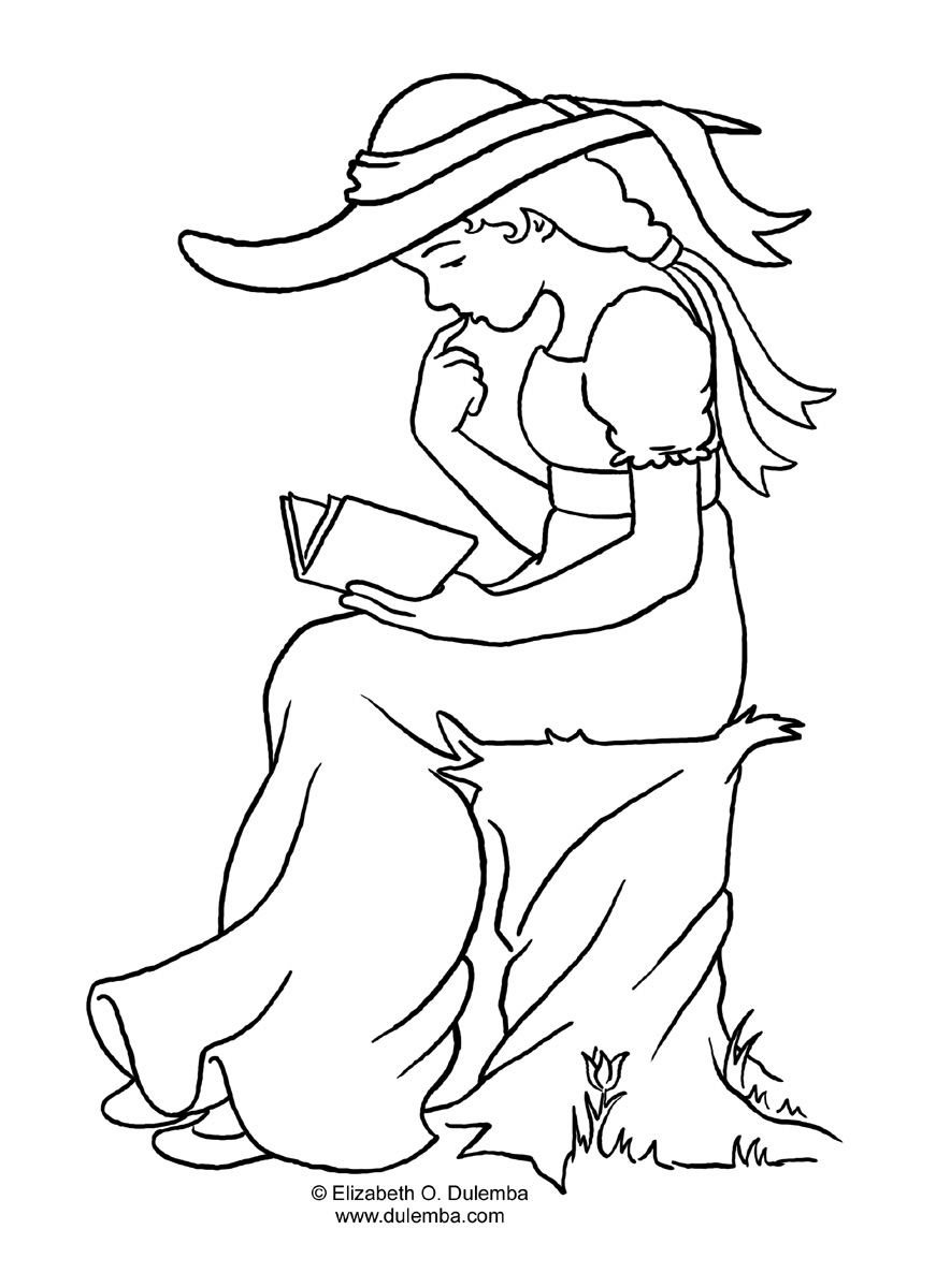 871x1200 Vintage Coloring Pages