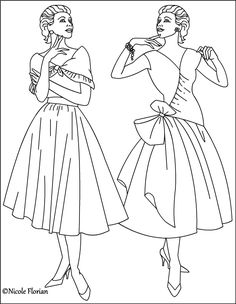 236x304 Vintage Fashion Style To Coloring Pages