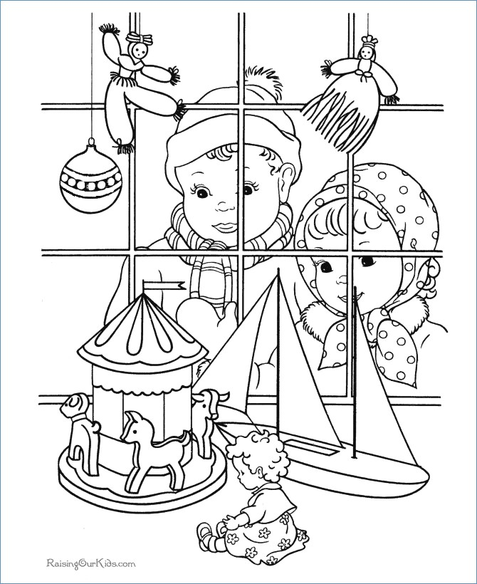 670x820 Christmas Tree Candles Coloring Pages