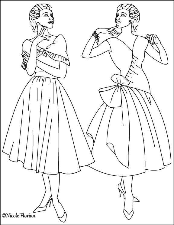Old Fashioned Coloring Pages Free