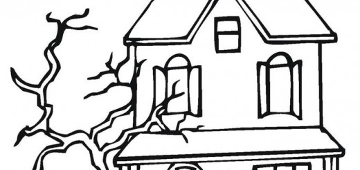 520x245 House Coloring Pages Wallpaper
