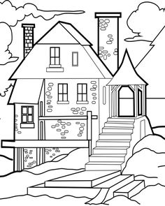 236x295 Advanced Fairytale Houses Coloring Pages Advanced Coloring Pages