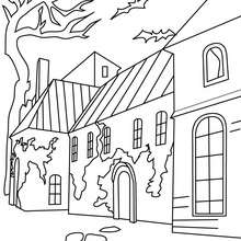 220x220 Old Haunted Hamlet And Graveyard Coloring Pages