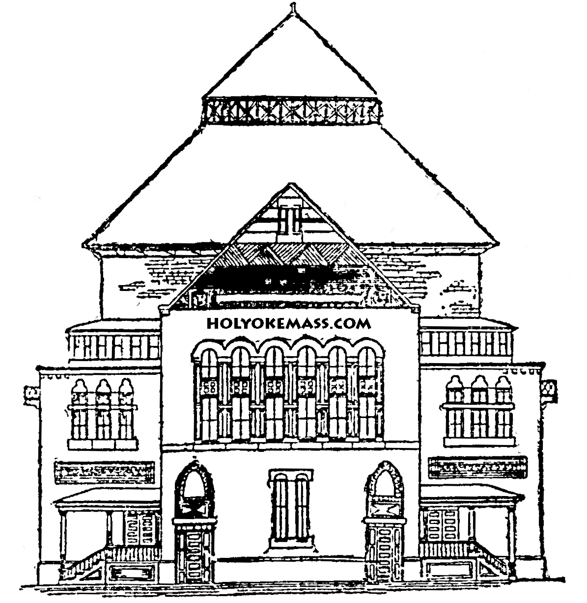 1195x1229 School House Coloring Page