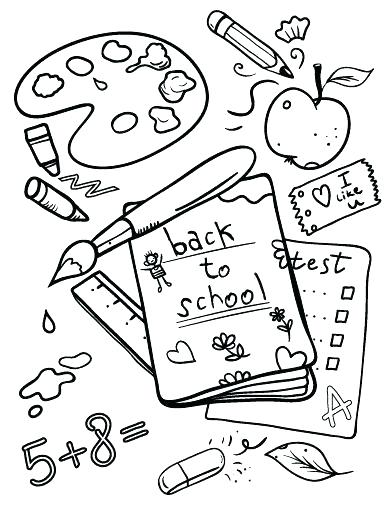 392x507 School House Coloring Page Coloring Pages For Back To School