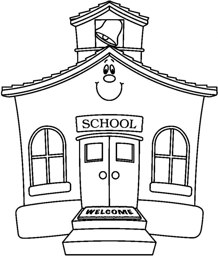 728x863 School House Coloring Pages Elegant School House Coloring Page