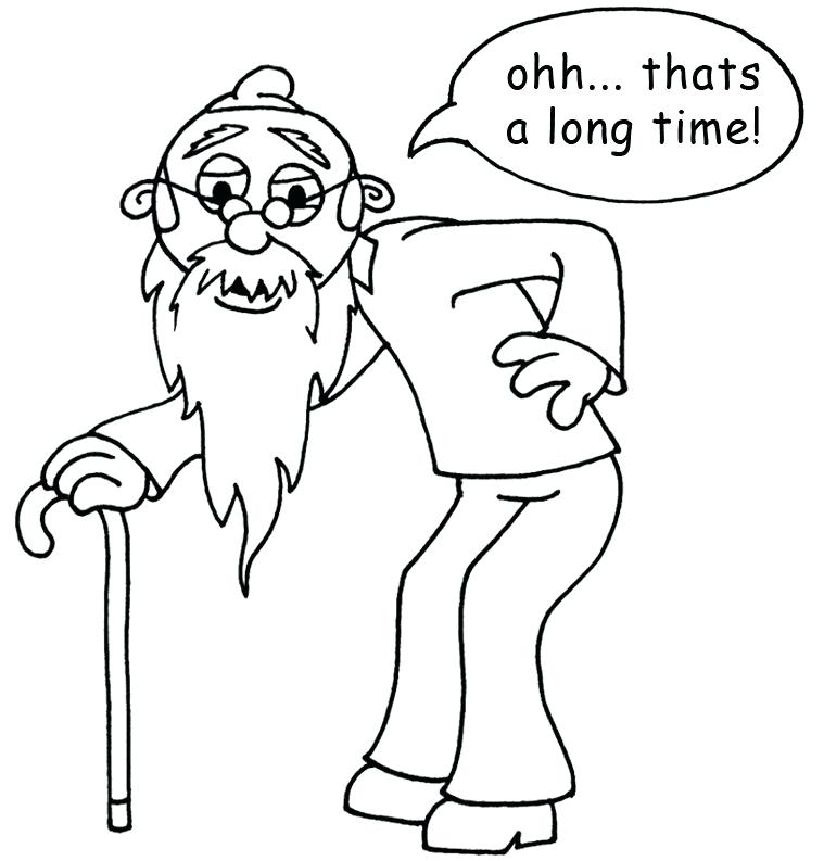 759x793 Old Man Coloring Pages