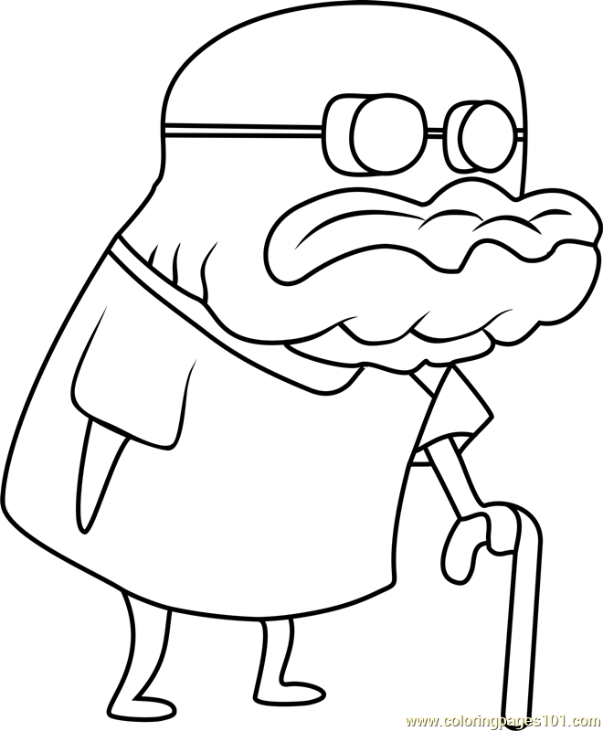 660x800 Old Man Jenkins Coloring Page