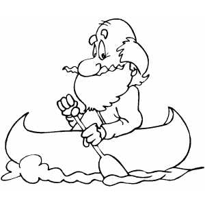 300x300 Old Man Rowing A Canoe Coloring Sheet