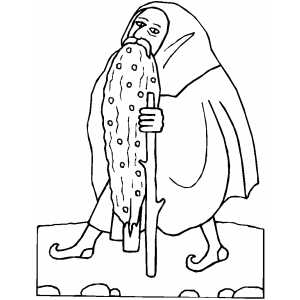300x300 Old Man With Staff Coloring Sheet