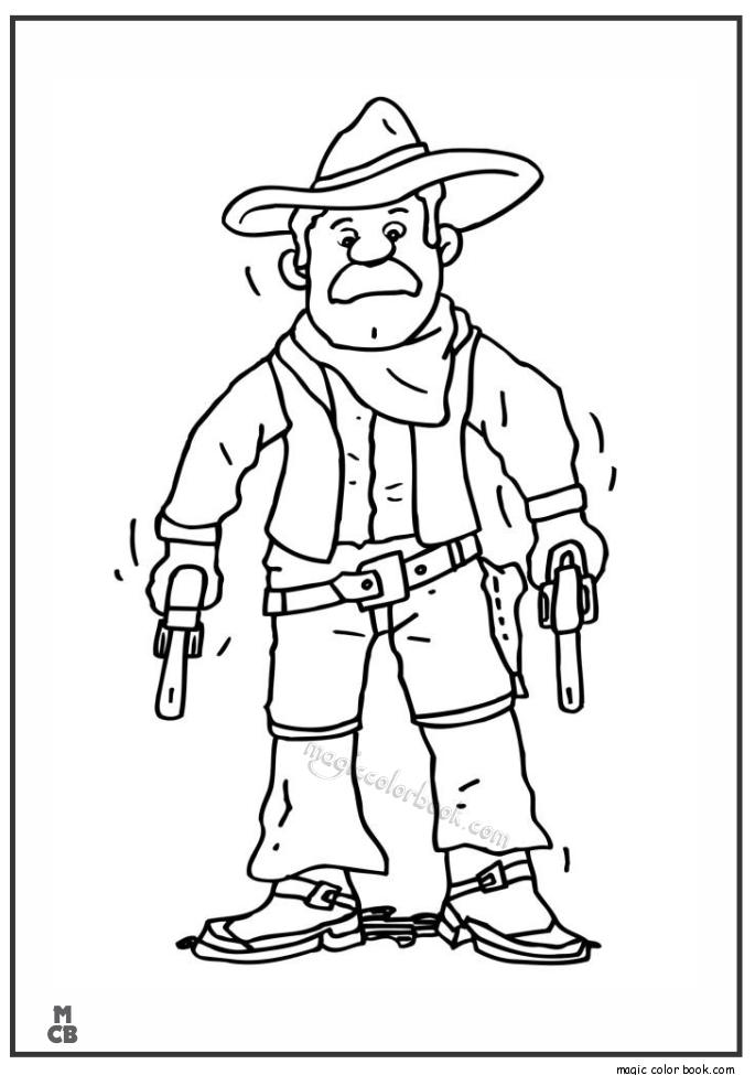 685x975 Oldman Cowboy Coloring Pages