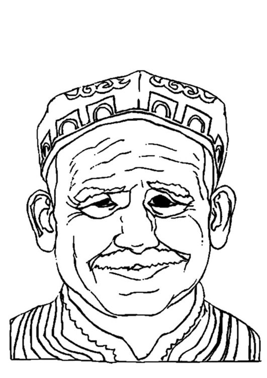 531x750 Coloring Page Old Man