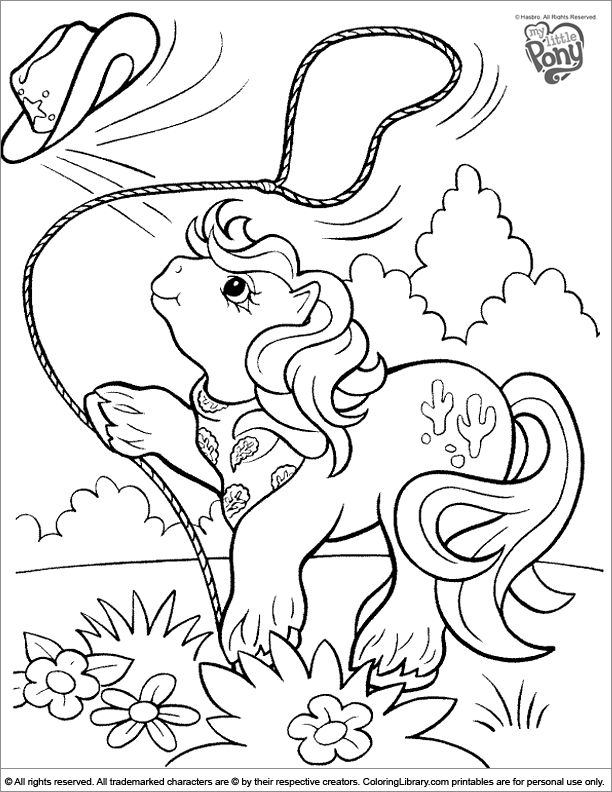 Old My Little Pony Coloring Pages