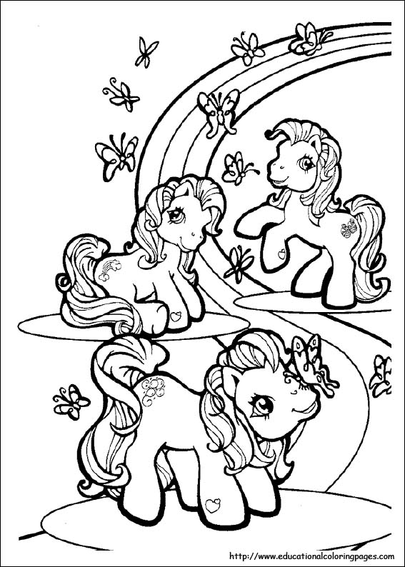 567x794 My Little Pony Coloring Pages Free For Kids