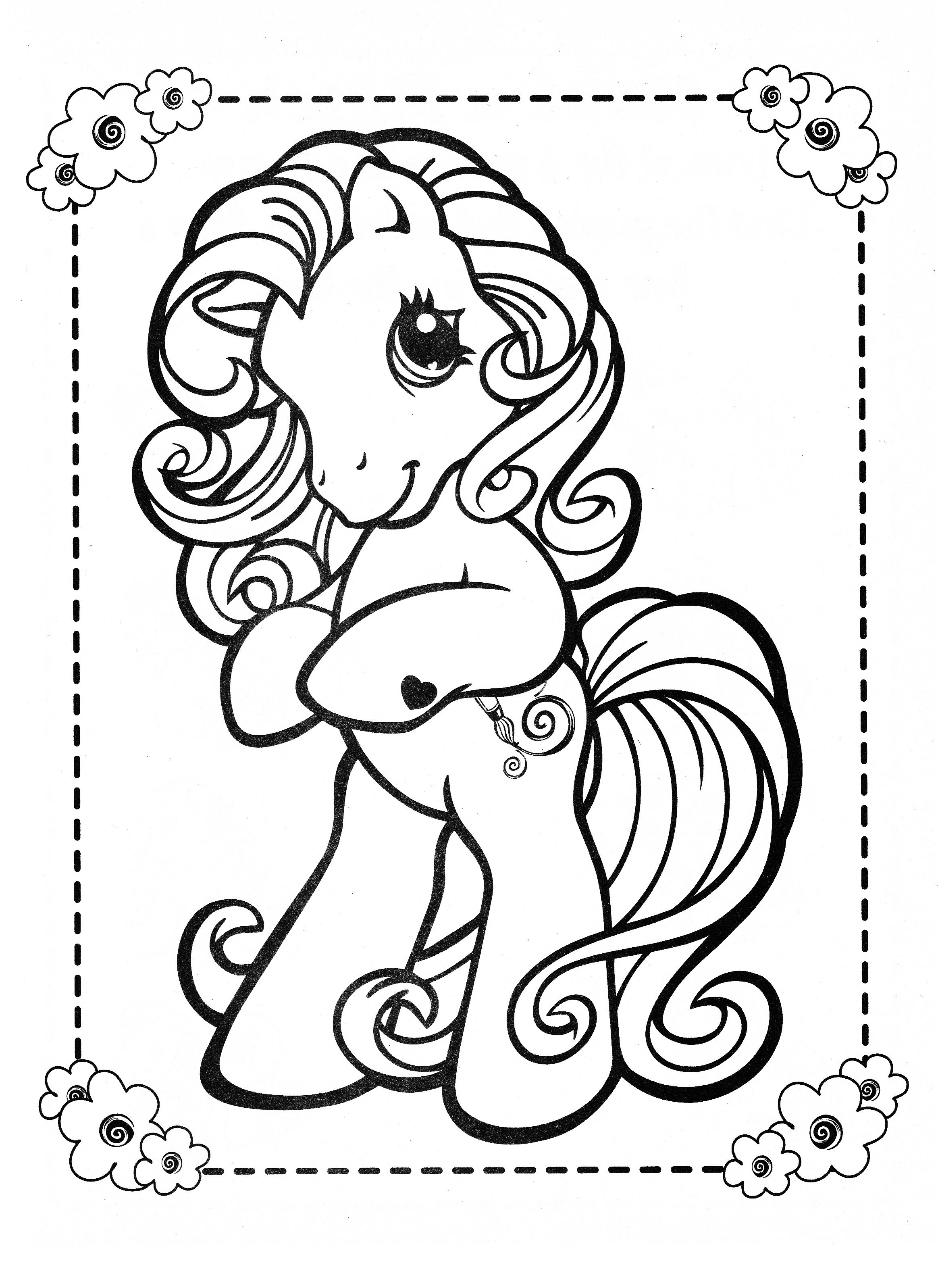 2327x3194 The Truth About Old My Little Pony Coloring Pa