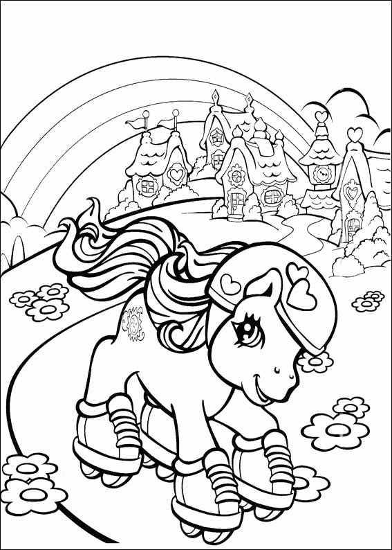 567x794 Little Pony Coloring Pages
