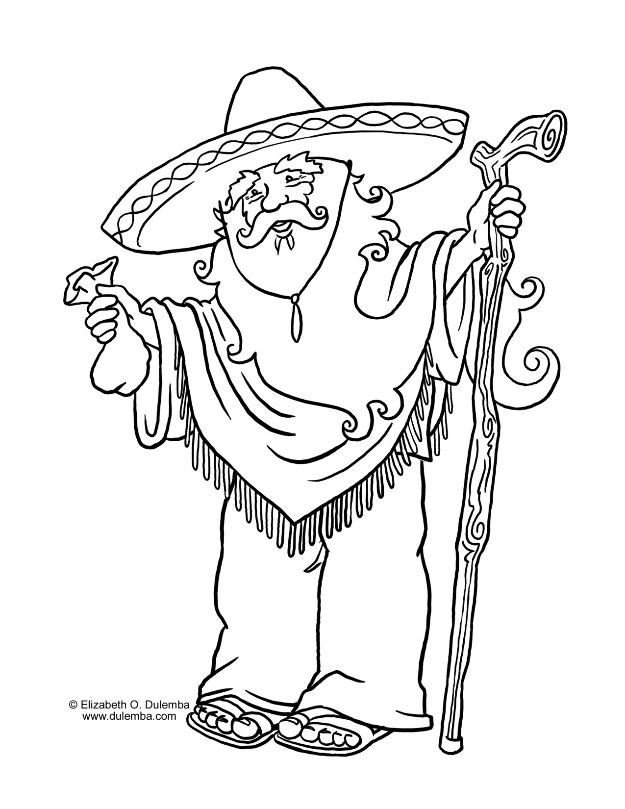 1275x1650 Old Man Coloring Pages