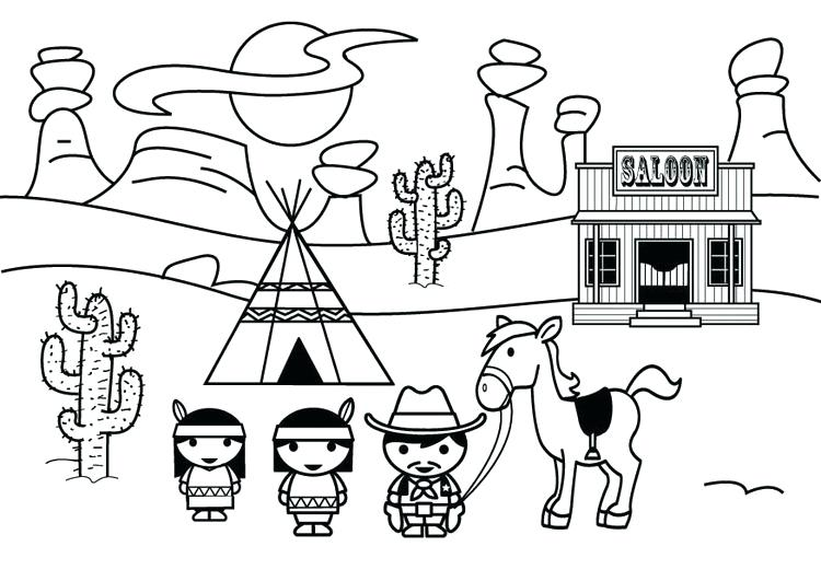 750x531 Old West Coloring Pages