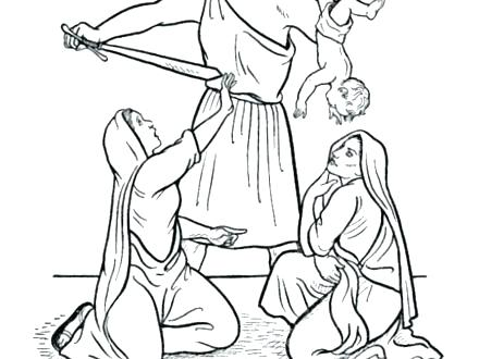 440x330 Cool King Coloring Pages Print Page Wise Old Testament Bible S C
