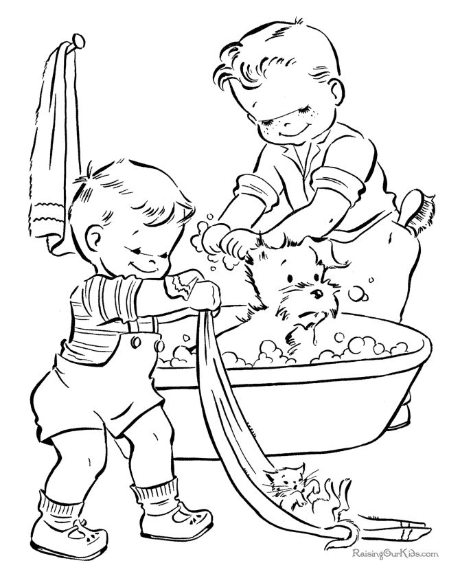 Old School Coloring Pages