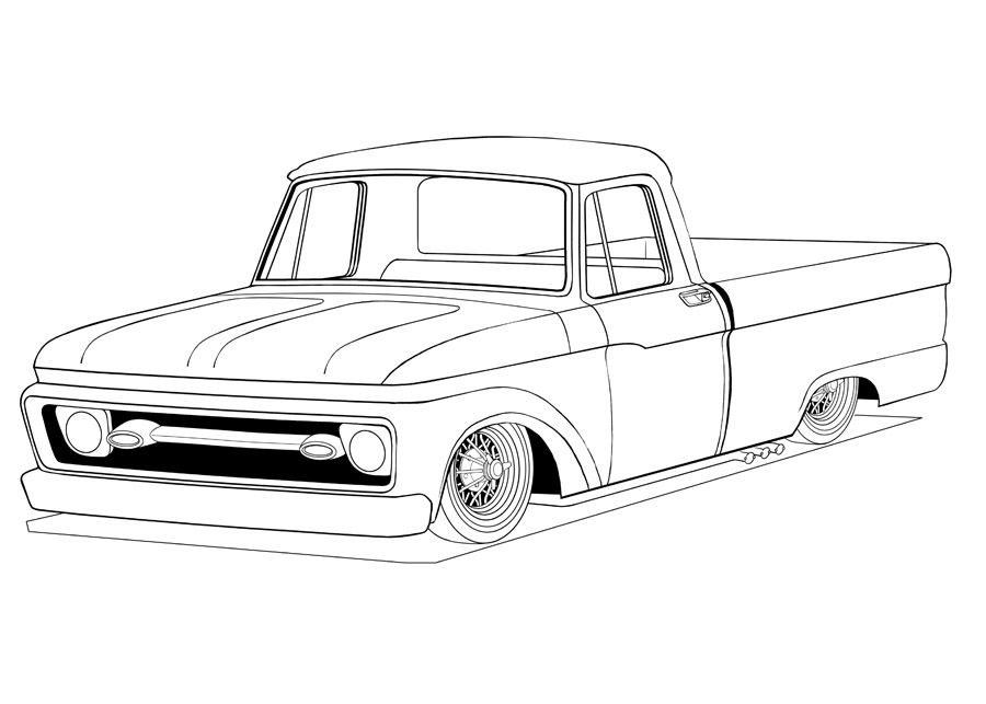 900x643 Ford Truck Coloring Pages Then Block Coloring The Main Shade