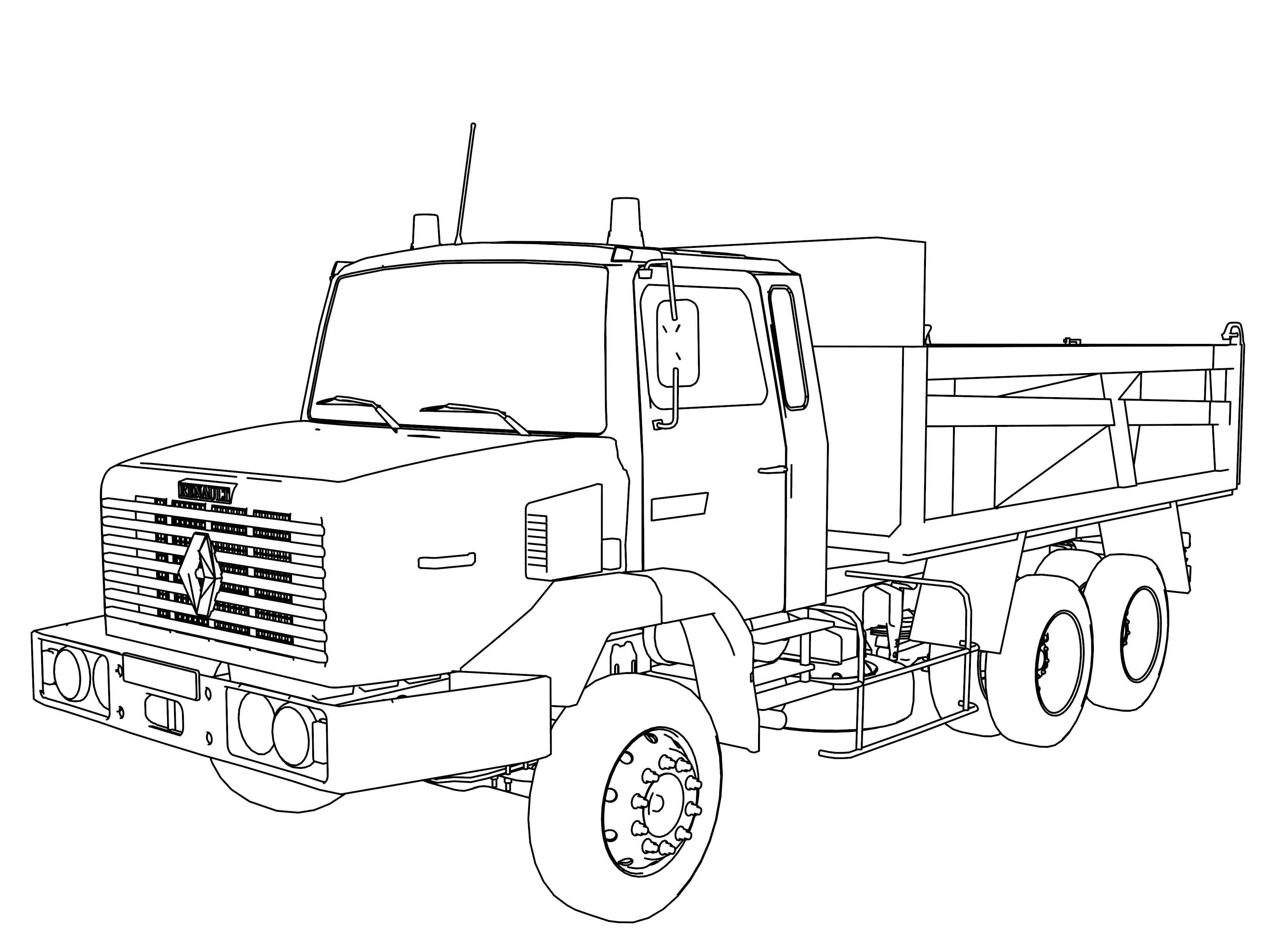3333x2500 Fresh Wheeler Truck Coloring Pages Vehicle Coloring Page