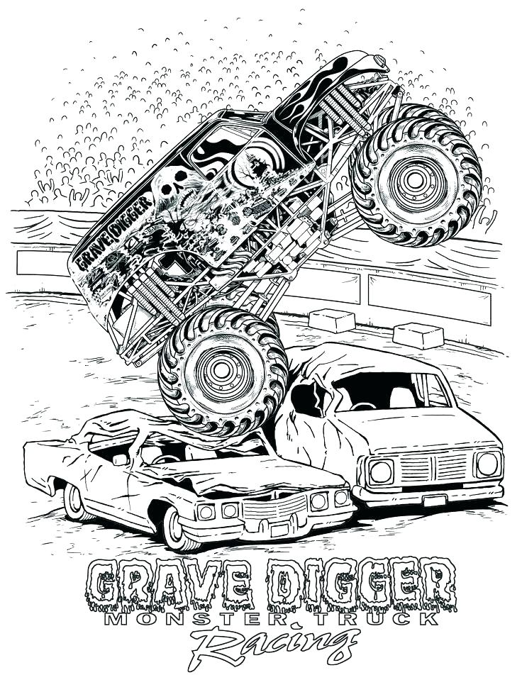 736x952 Monster Truck Color Pages Coloring Pages Garbage Truck Old Truck