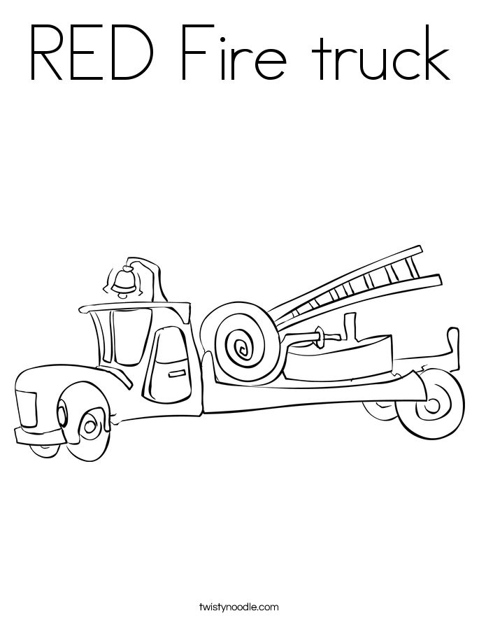 685x886 Red Fire Truck Coloring Page