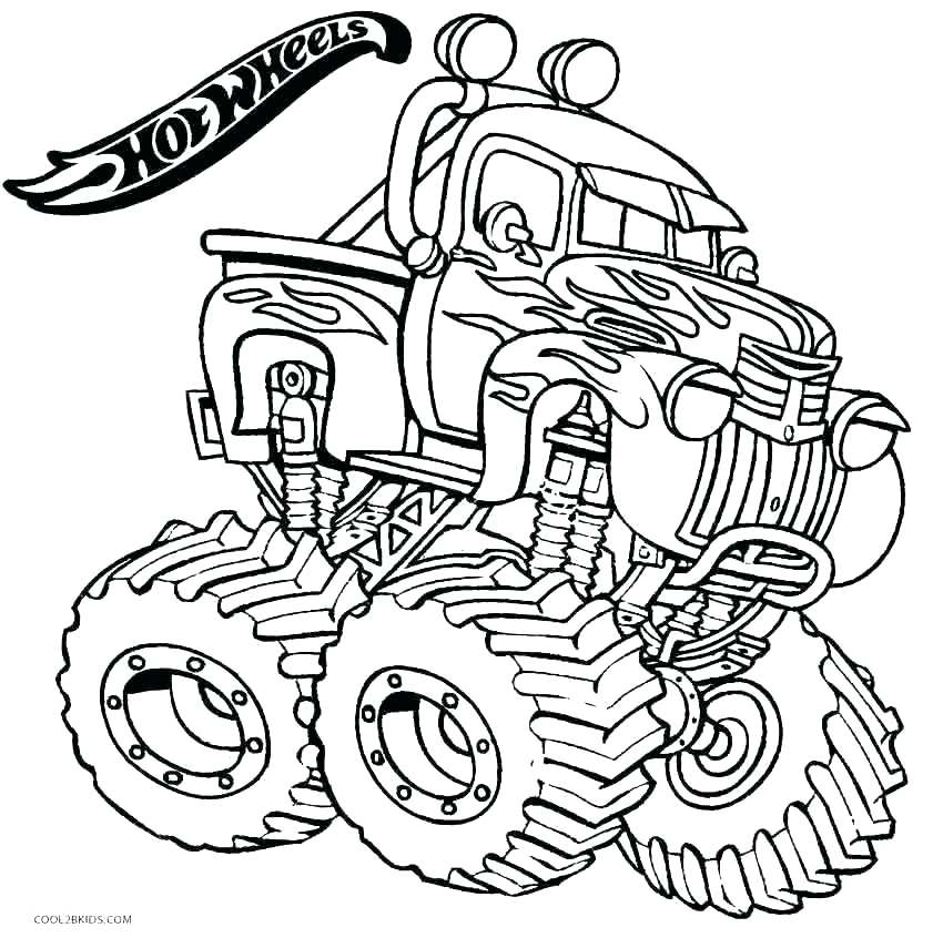850x846 Monster Truck Coloring Pages To Print