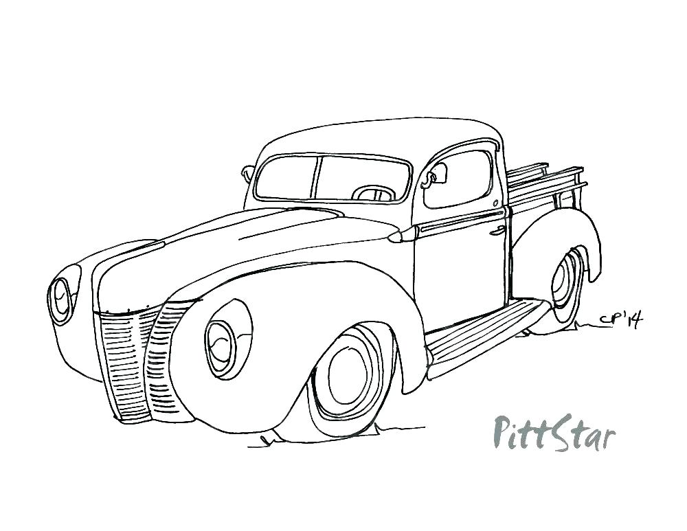 1000x773 Old Chevy Truck Coloring Pages