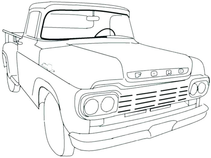 700x525 Old Pickup Truck Coloring Pages