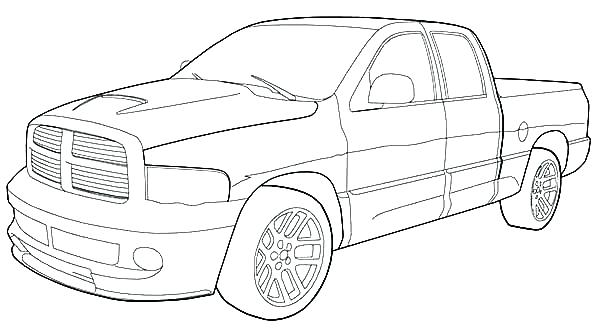 600x330 Pickup Truck Coloring Pages Coloring Collection
