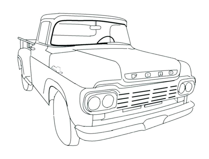 850x648 Dodge Ram Coloring Pages Dodge Ram Coloring Pages Old Truck
