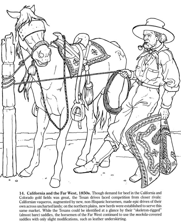 630x770 Cowboys Of The Old West Coloring Book Big Book Of The Old West