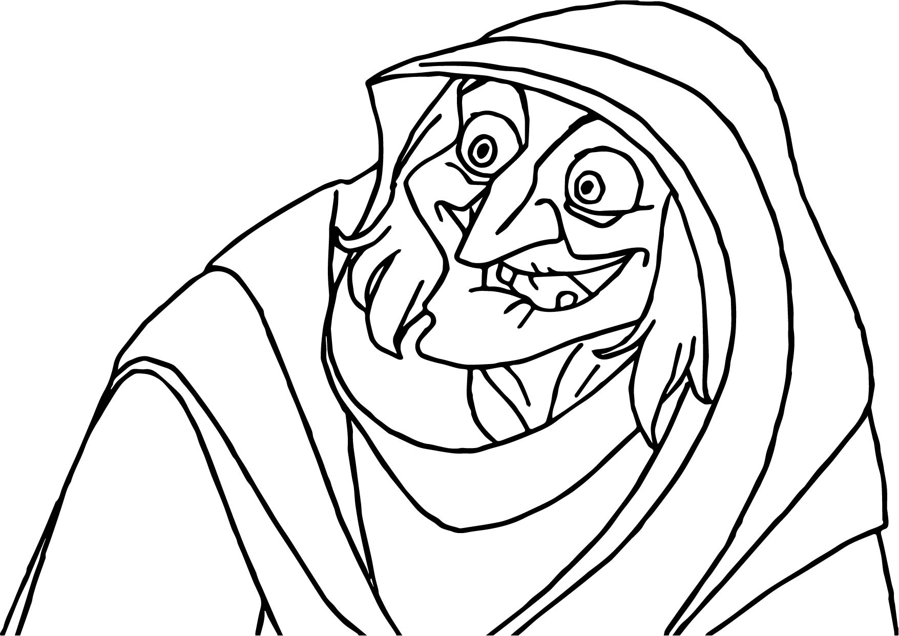 Old Woman Coloring Page