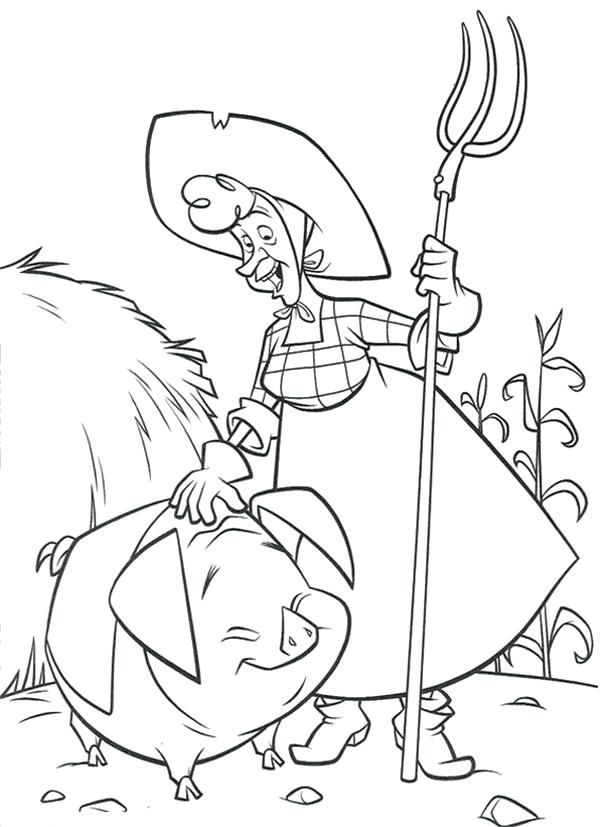 600x827 Old Lady Who Lived In A Shoe Coloring Page