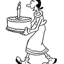 220x220 Funny Olive Oyl Coloring Pages