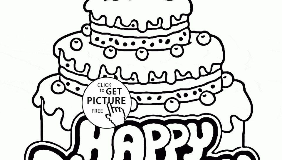 960x544 Free Birthdayakeoloring Pages To Print Page Printableolouring