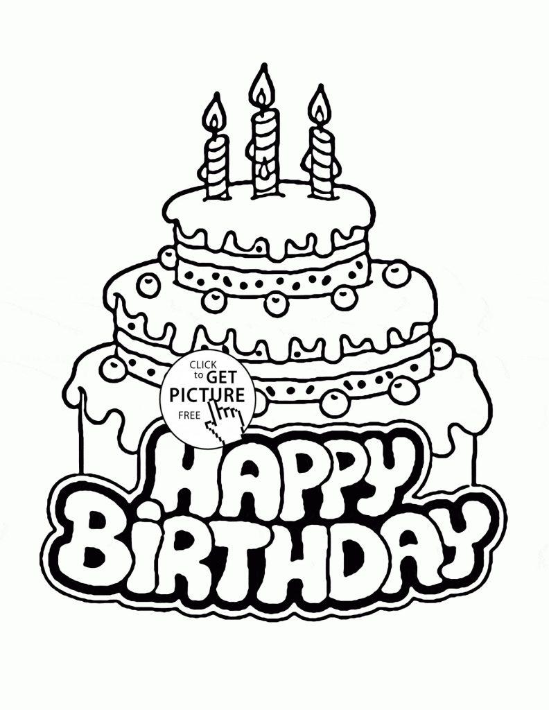 792x1024 Birthday Cake Colore Preschool Coloringes Colouring Happy