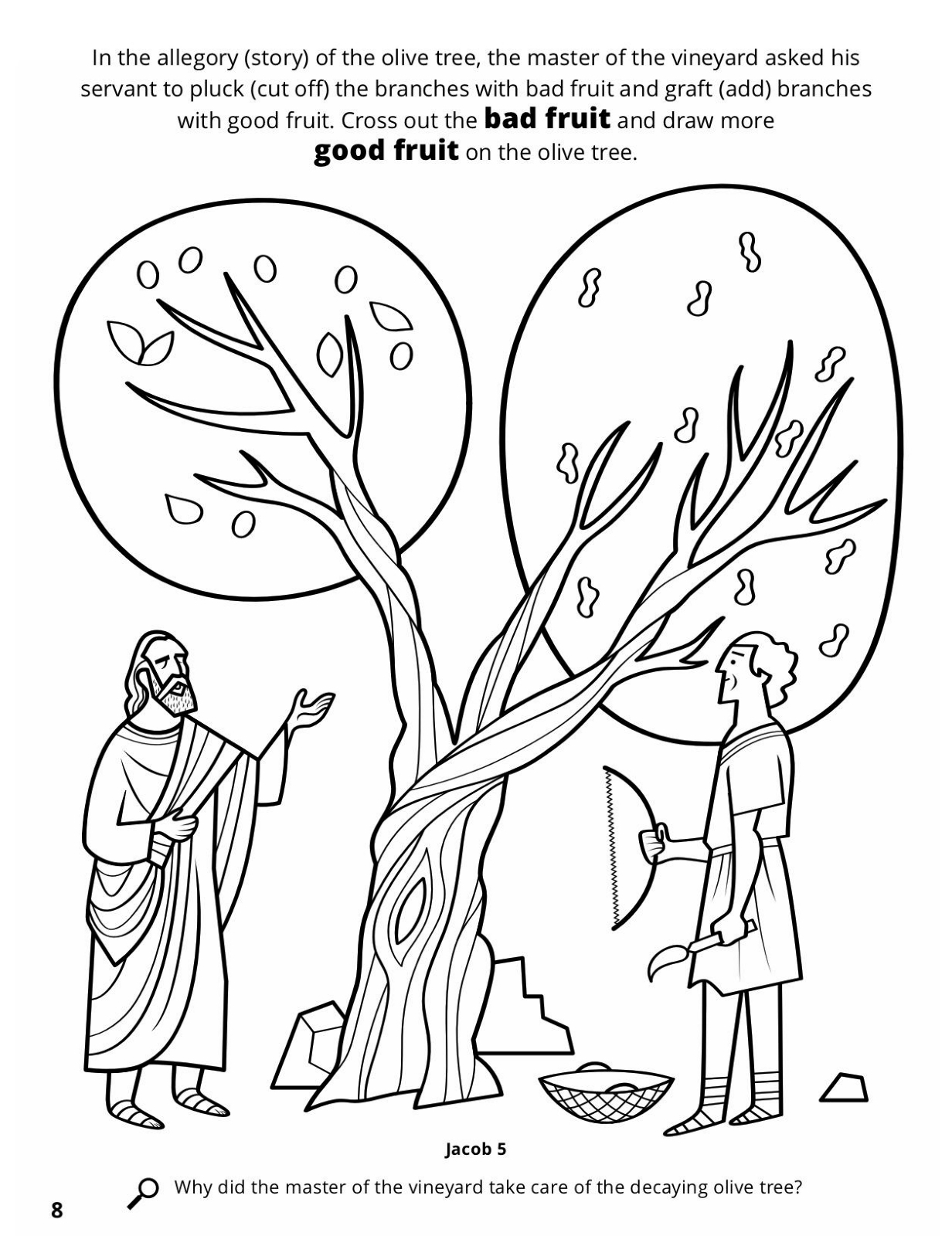 1232x1600 Parable Of The Olive Tree Coloring Pages Printable Coloring
