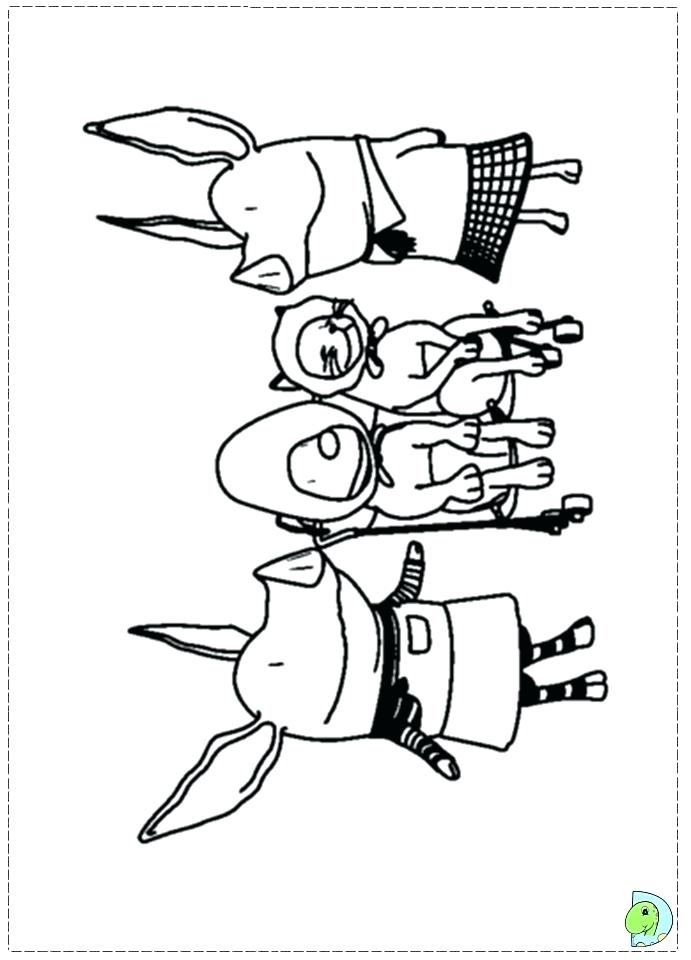 691x960 The Pig Coloring Page The Pig Olivia Pig Colouring Page