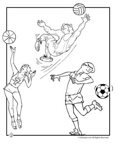 Olympic Coloring Pages For Preschoolers